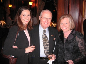 Dr. Christine Whelan, Dr. Norman Borlaug and Dr. Elizabeth Whelan